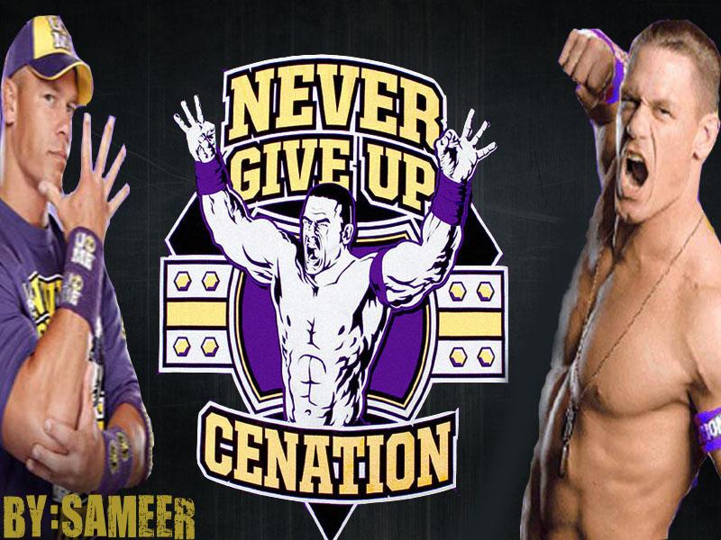 WWE Superstars | WWE Wallpapers | WWE WrestleMania: John ...  |John Cena Logo Never Give Up 2014