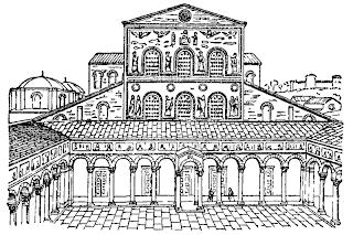 Desenho da antiga basílica de São Pedro