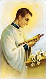 Resultado de imagen para San Juan Berchmans y el rosario
