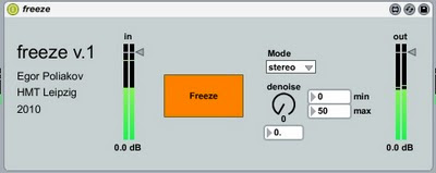 Audio Freeze Max for Live