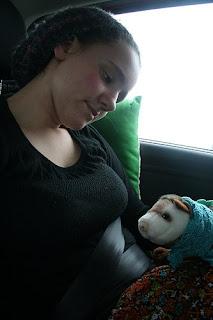 Jessica (Finjas Mama) und Wiesel unterwegs nach Halle