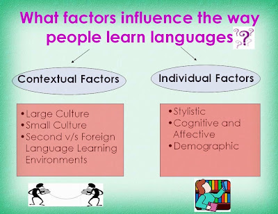 Sources of Variation in Language Learning