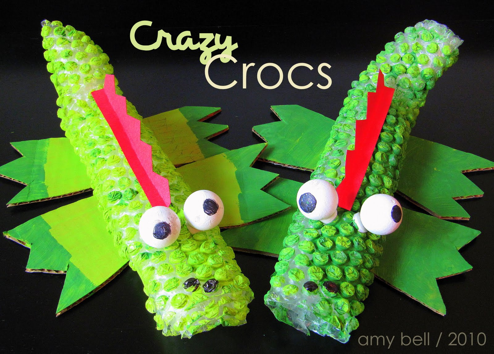 Bubble Wrap Crocodile Kids Craft