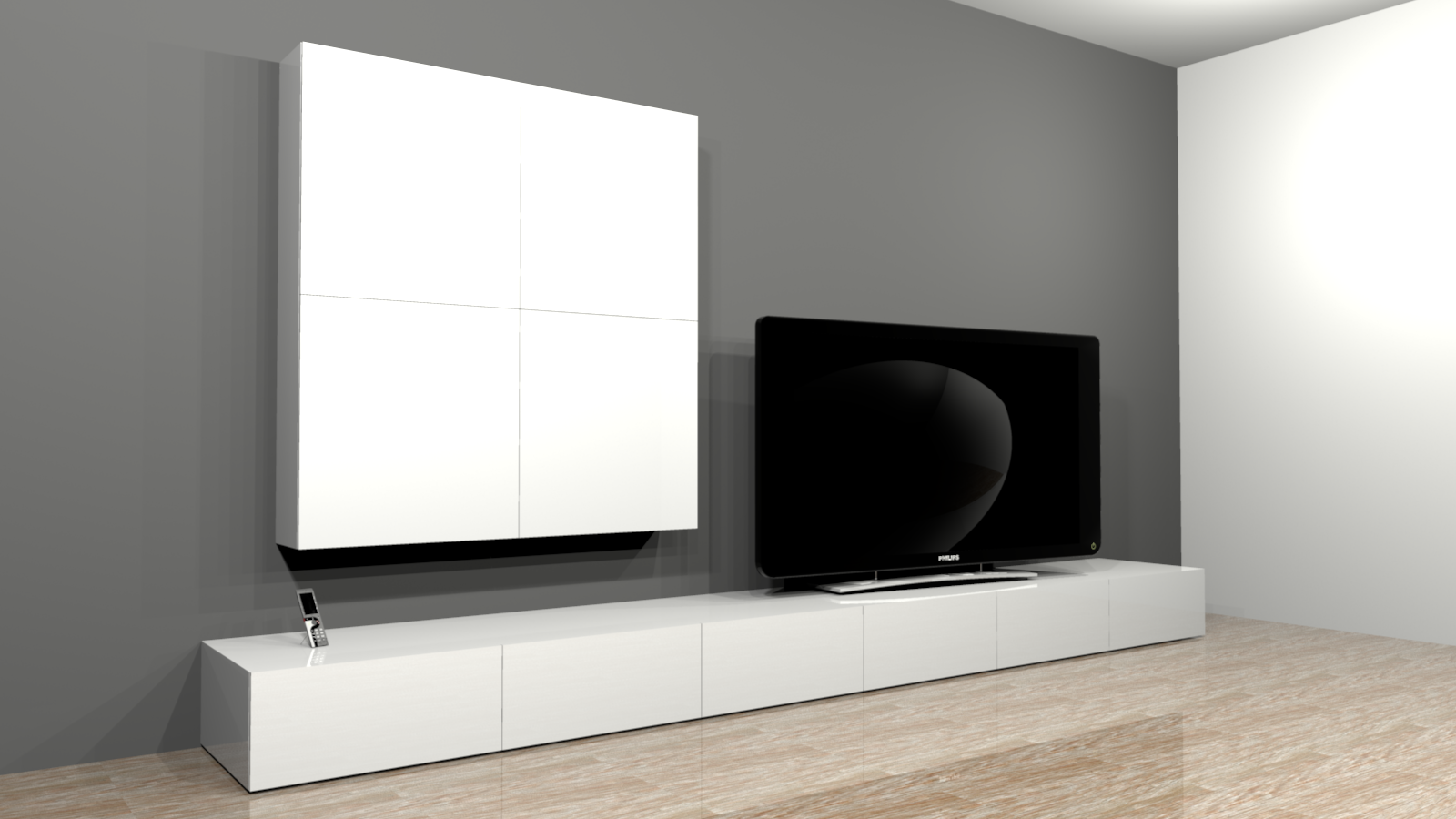 projet de cr ation de mobilier contemporain banc tv range cd mural. Black Bedroom Furniture Sets. Home Design Ideas