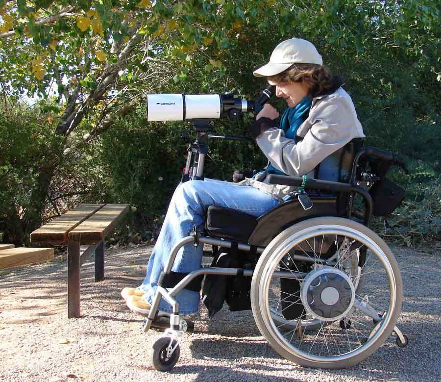 Image result for wheelchair binocular mount