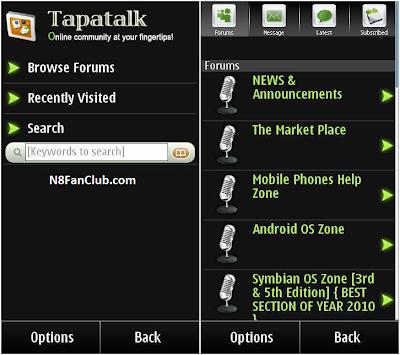 Tapatalk v1 00 - Forum Client - Symbian^3 - Free Widget Download