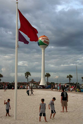 Thanks To Now Hurricane Dolly The Red Flag Flies Over Pensacola Beach Incredibly A Few People Still Had Be Convinced Get Out Of High Surf
