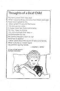 Abc Powerful Poem Quot Thoughts Of A Deaf