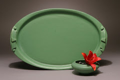 Oval-Tray-with-Flower-Bowl