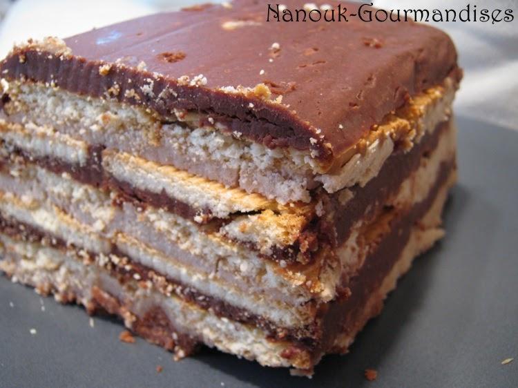 gourmandises g teau chocolat petits beurre marrons. Black Bedroom Furniture Sets. Home Design Ideas