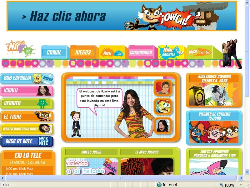 Fanático Gratificante azúcar  EL INFORMATORIO: Internet para chicos: Mundonick.com está de estreno