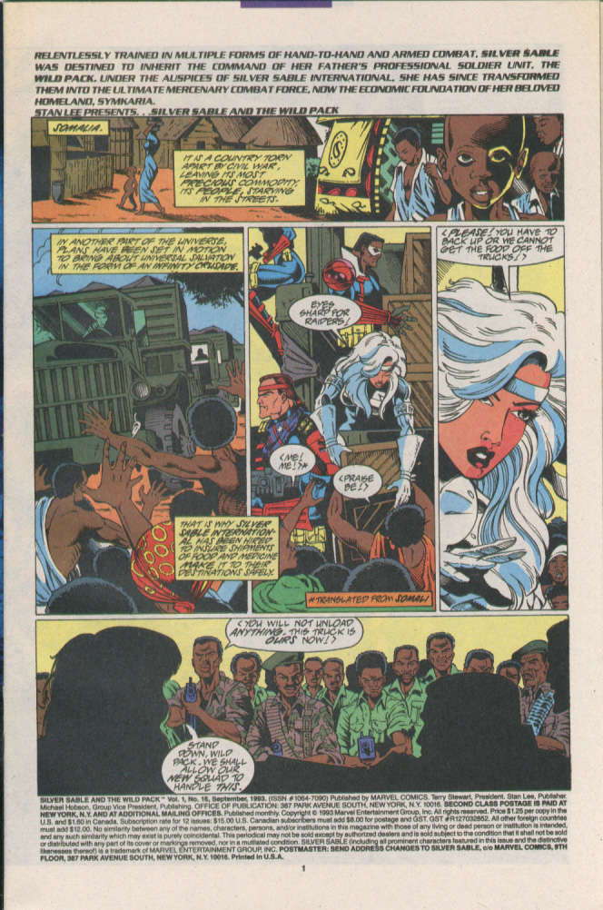 Read online Silver Sable and the Wild Pack comic -  Issue #16 - 2