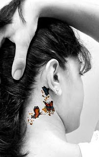 Butterfly Tattoos Behind Ear Pictures Canariasdeportiva