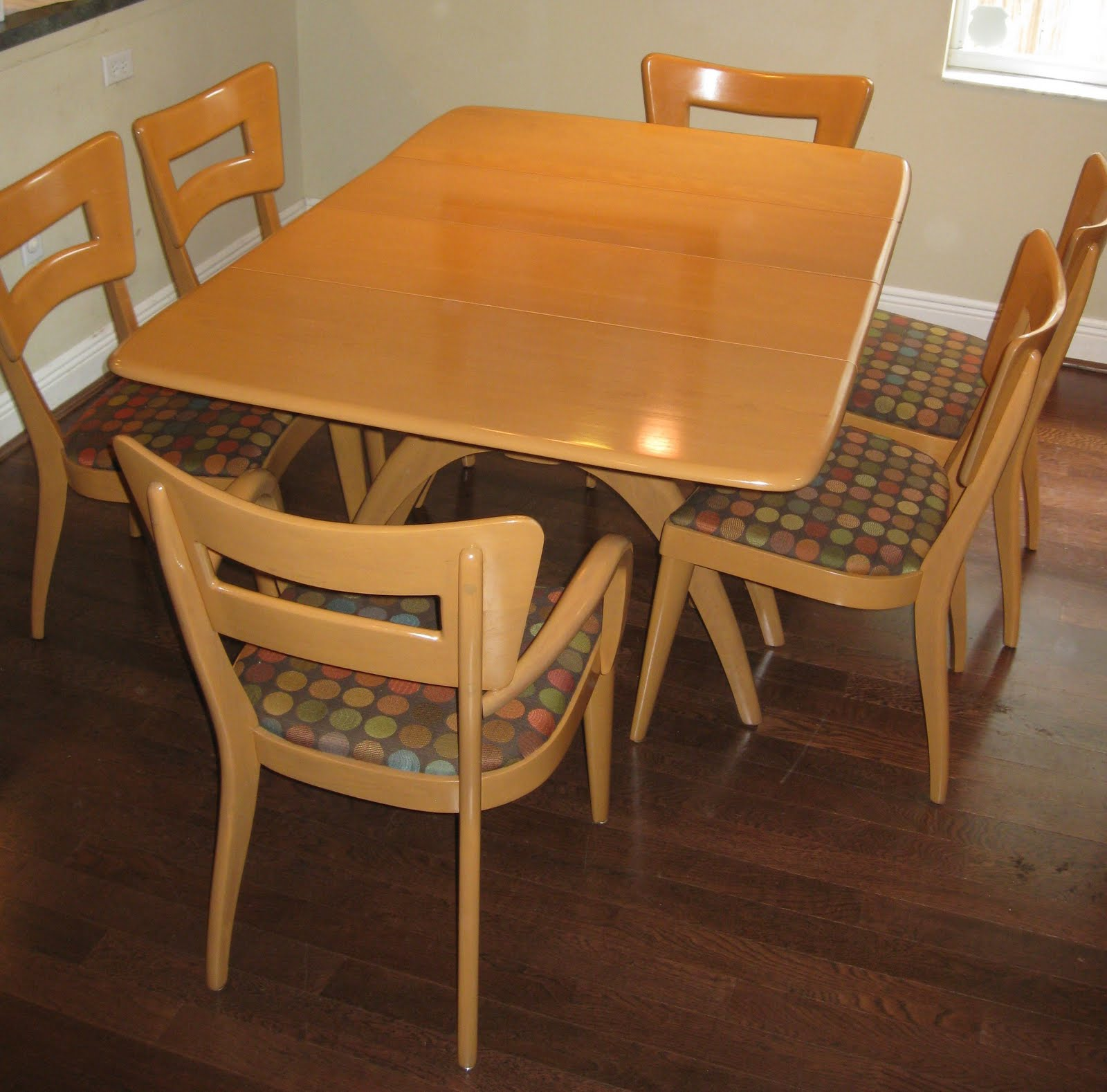heywood wakefield dining table and chairs wedding hire sydney a modern line refinishing other