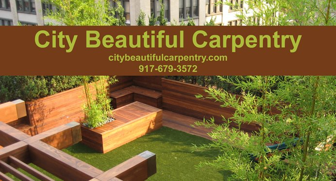 City Beautiful Carpentry: Park Slope Garden and Planters: Ipe and ...