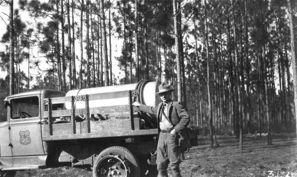 Vintage forest service trucks