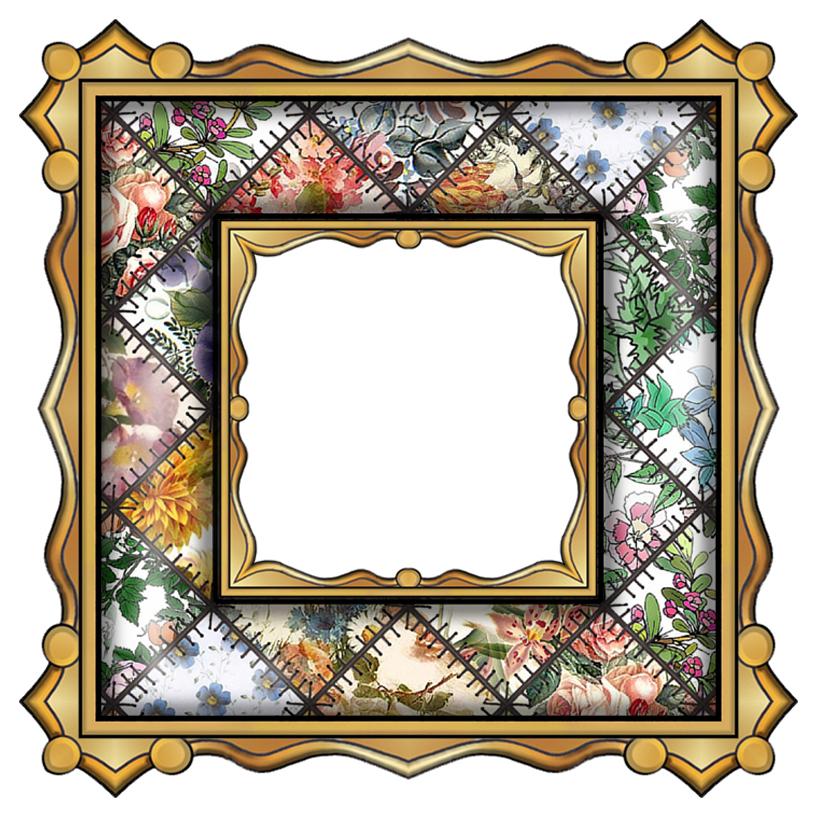 ArtbyJean - Paper Crafts: Set A01 - Theme Patchwork ...Fancy Square Frame