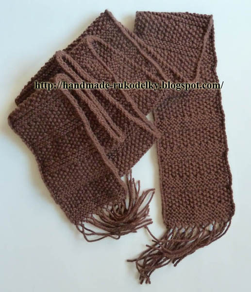 Hand Made Rukodelky A Very Simple Scarf For Beginners Velmi
