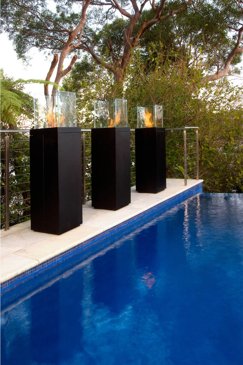Non Ethanol Gas >> TR123 Modern Outdoor Non-Gas TOWER Fireplace from ecoSmart