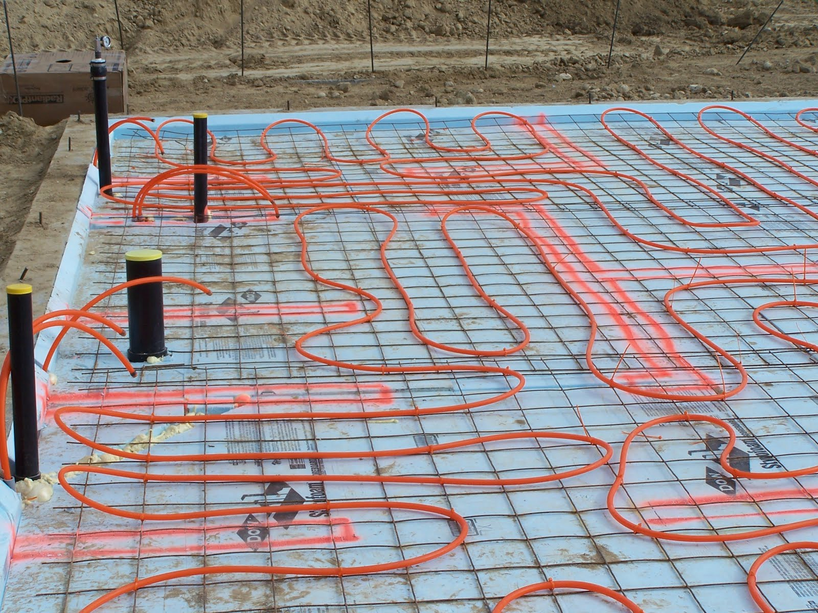 Home Construction Underslab Insulation Radiant Heat And