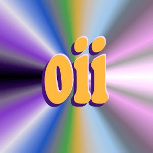 "colorful icon ""oii"""
