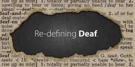 """Re-defining Deaf"" logo"
