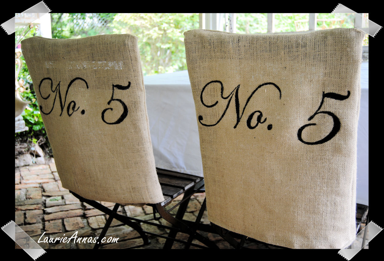 Burlap Chair Covers For Folding Chairs 2 And Table Laurieanna 39s Vintage Home Make Your Own