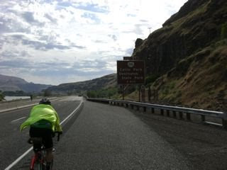 The Kramer riding east to Celilo