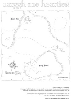 Sweet Little Parties: {free printable} pirate treasure map ...
