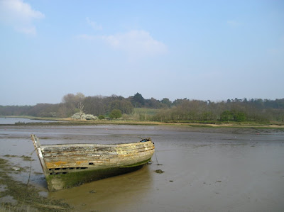 boat on Deben estuary