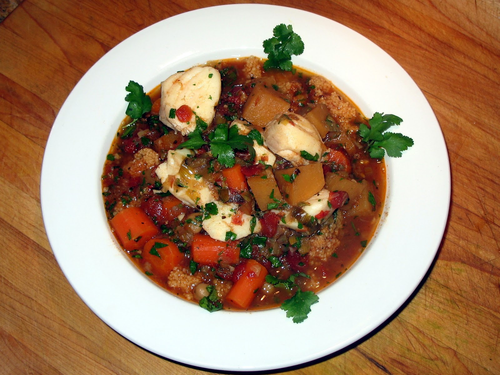 Gimme the knife moroccan fish stew new hampshire cod style for Fish soup cod