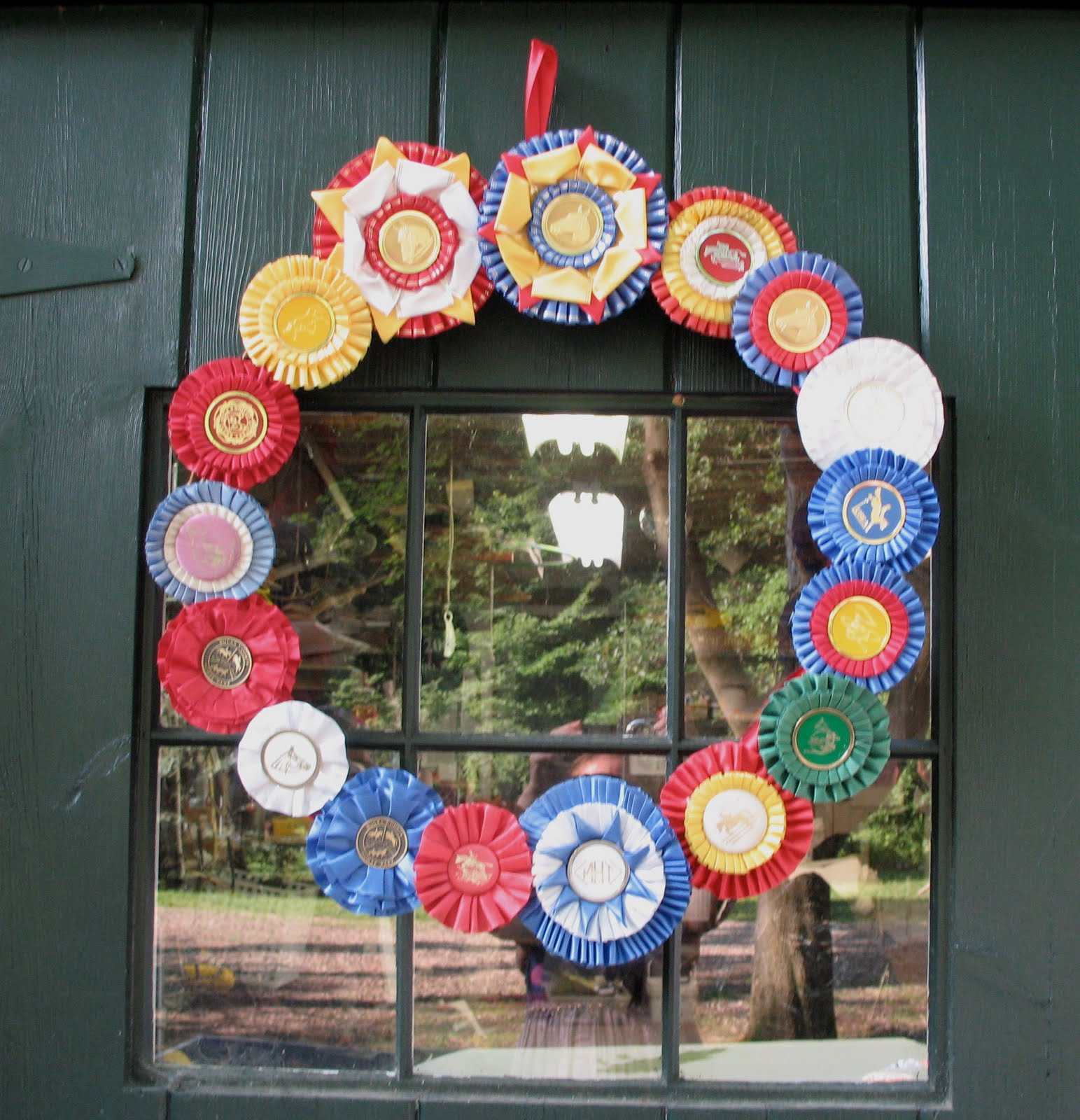 blue cardinal: Decorating with Horse Show Ribbons