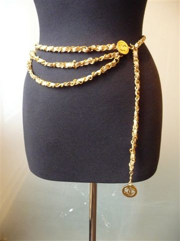 Bagshoescompulsive Chanel 1980 S Three Tier Gold Link And