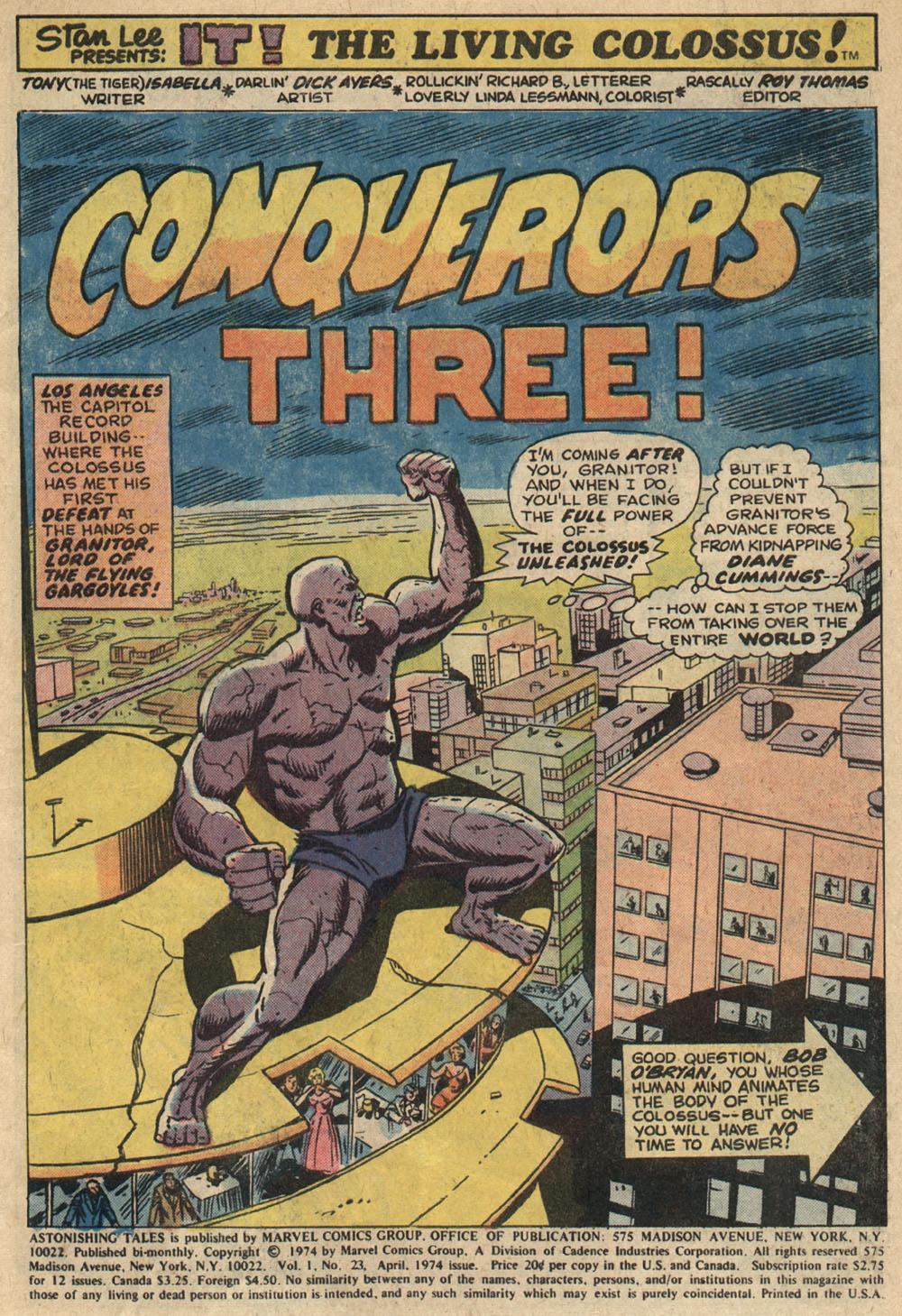 Read online Astonishing Tales (1970) comic -  Issue #23 - 2