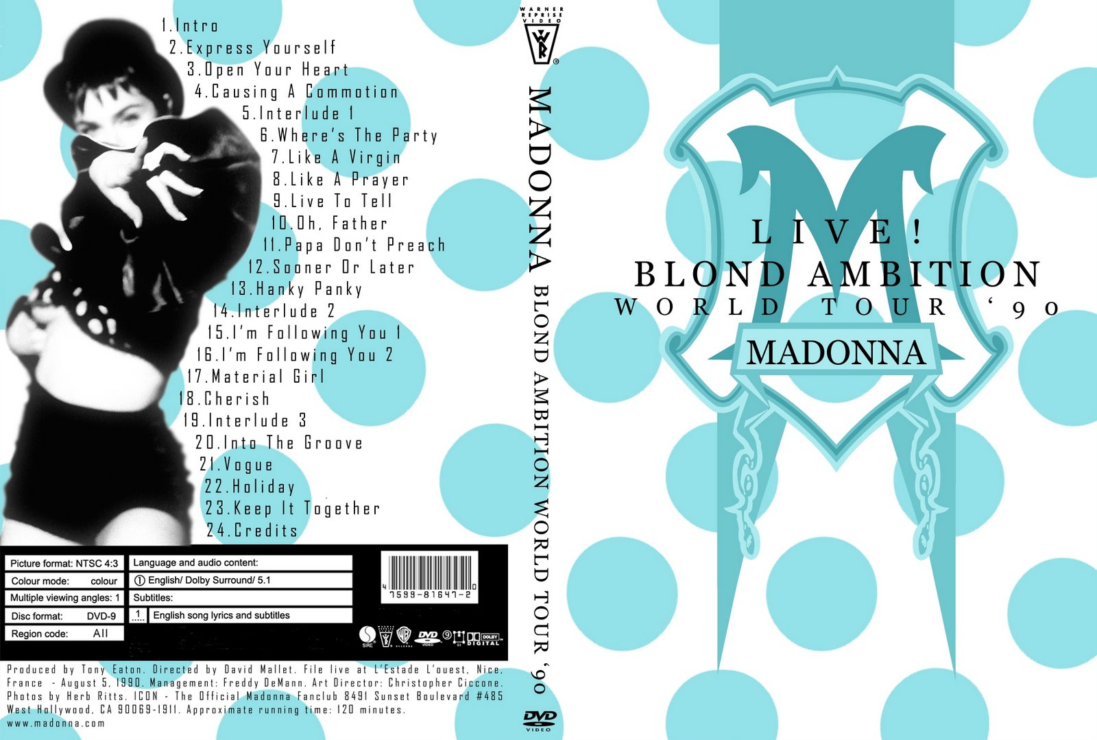 Audio from madonna's tours.