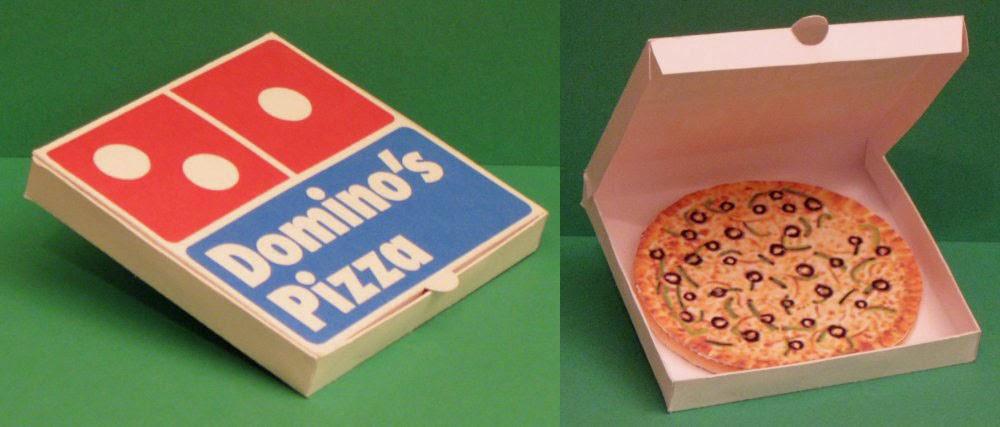 Domino S Pizza Paper Toy Jpg