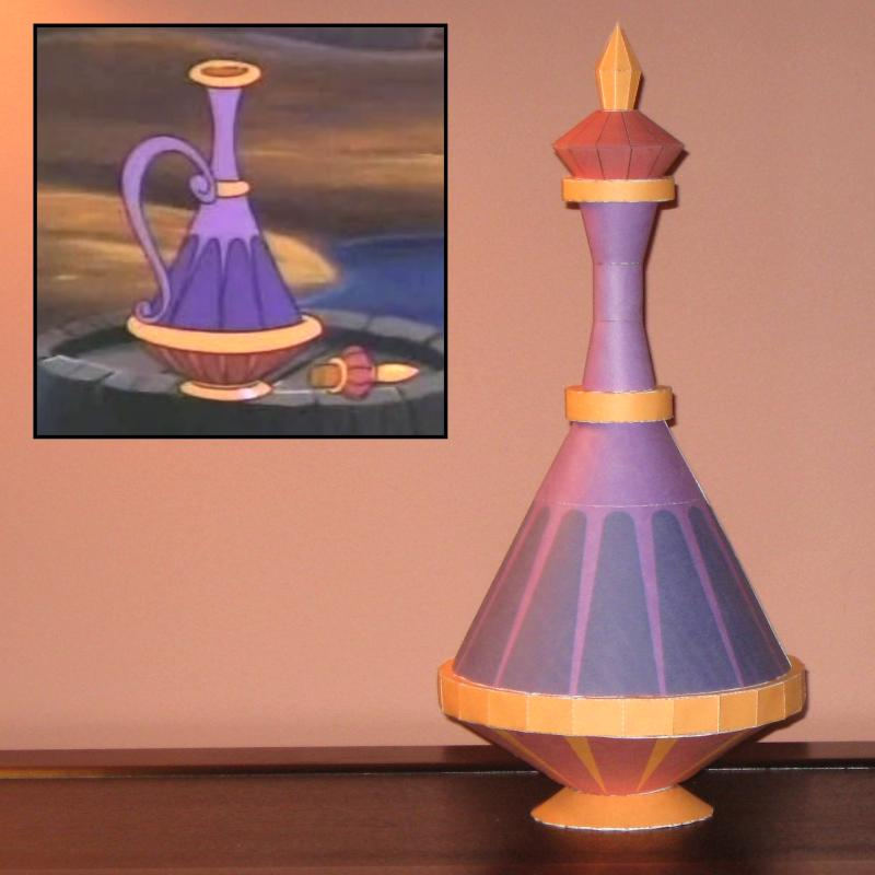 Disney Papercraft  Eden s Genie Bottle. Disney Papercraft  Eden s Genie Bottle   Tektonten Papercraft