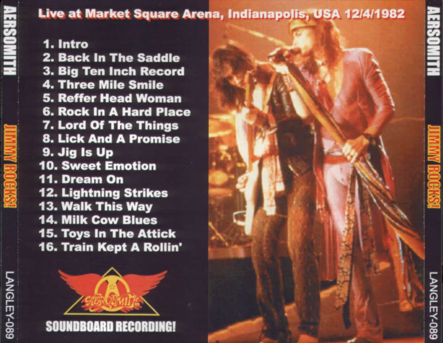 Aerosmith 1982 12 04 Indianapolis Quot Jimmy Rocks