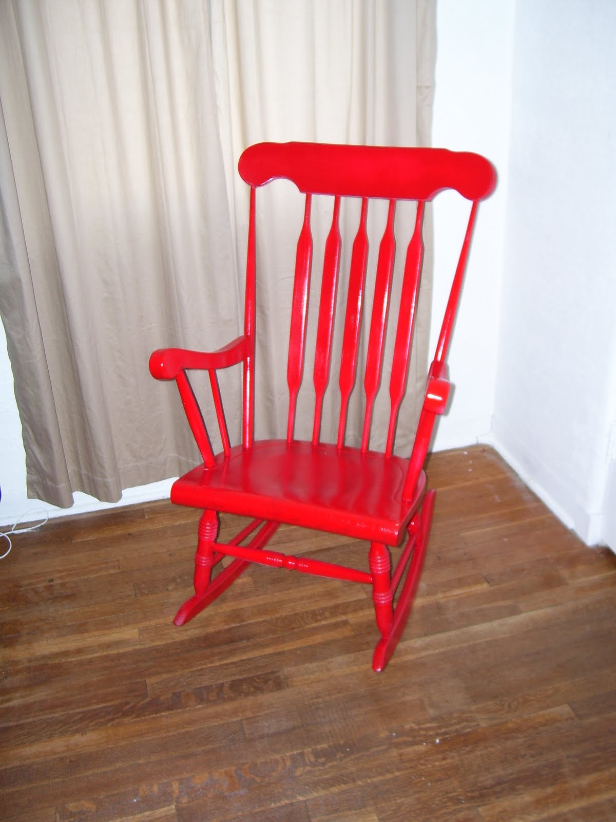 Red Rocking Chair Personality Is Preferred My Bright Red Rocking Chair