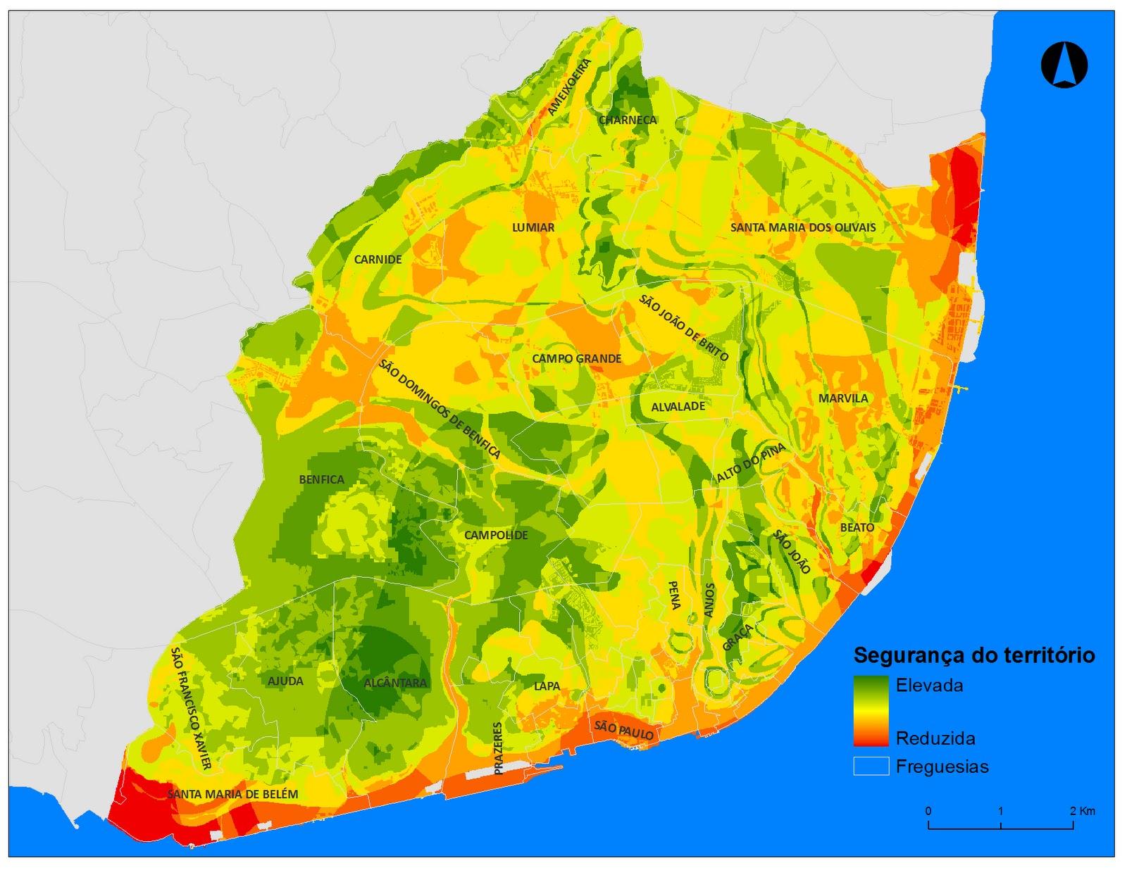 mapa sismico lisboa Gouviães: Definição de Áreas Seguras e Rotas de Emergência em  mapa sismico lisboa
