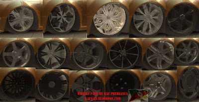 Raf.Prebianca Wheels Pack para GTA San Andreas