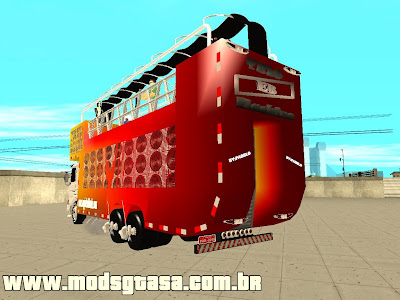 Scania 93H 6x2 Trio Eletrico Machine para GTA San Andreas