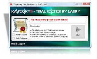 trial reset Kaspersky Trial Resetter v1.6.0.0   Final