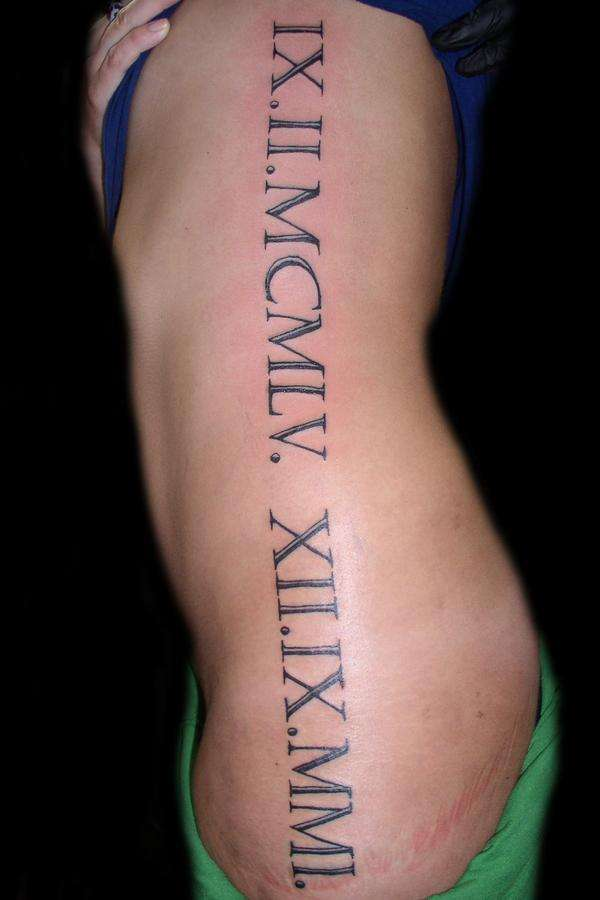 Inked Up!: Roman Numeral Tattoos