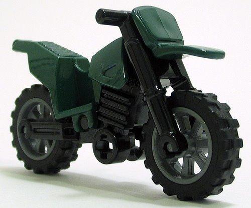 Moto de brinquedo verde