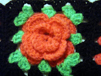 flowered granny square