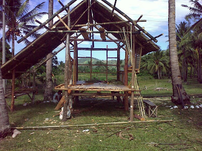 Woman On A Journey Constructing A Bahay Kubo