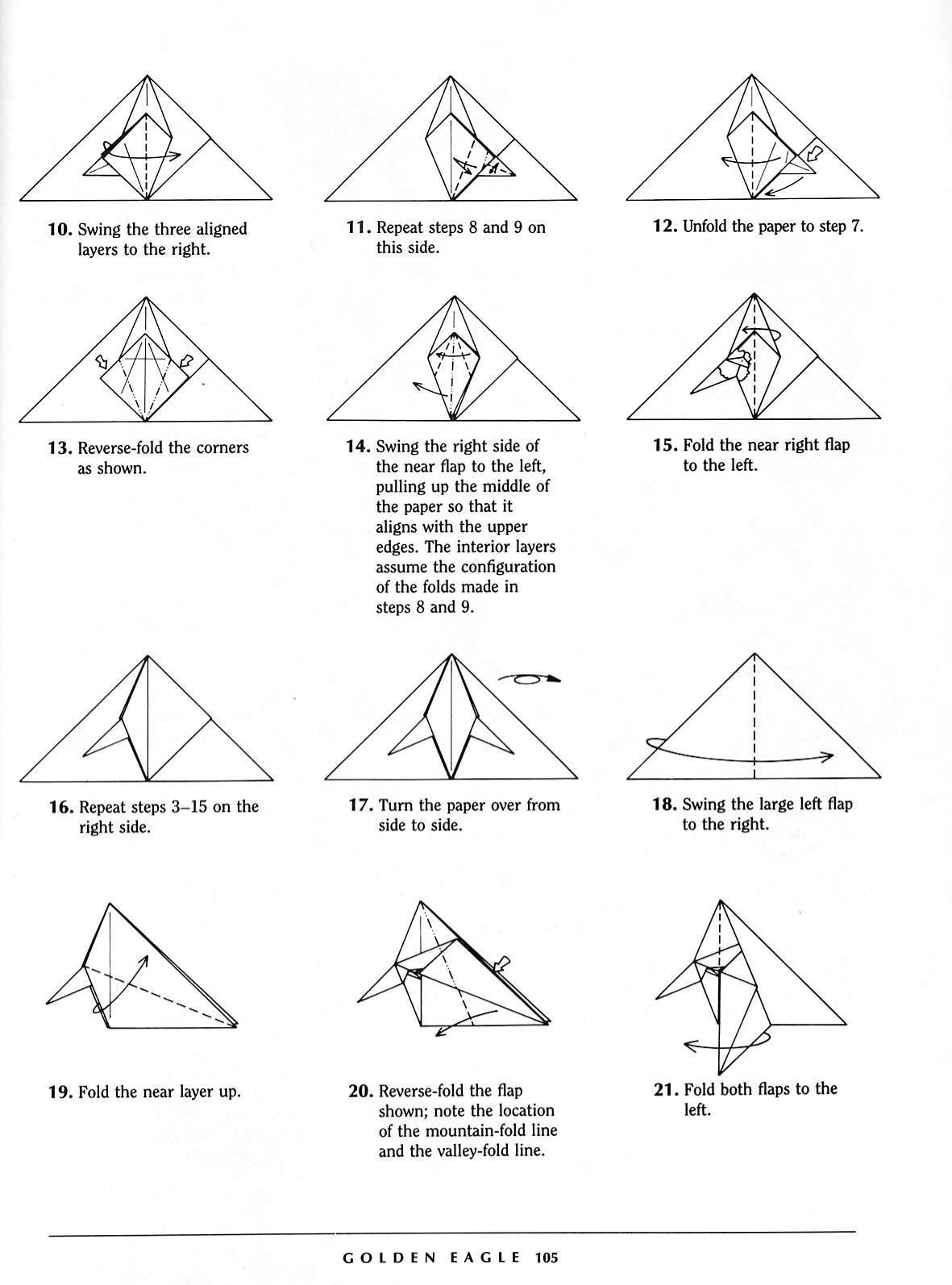 Origami Eagle Instructions Diagram 8n Ford 12 Volt Wiring Onoy Cara Membuat Elang