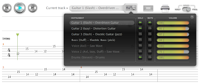 Songsterr: New Songsterr Features: Mixer, Electric Guitar
