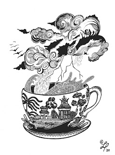 Lou Peajeux Illustration: Storm In A Teacup